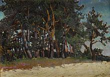 Henryk Dietrich (1889 - 1948) Landscape with trees