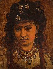 Franciszek Streitt (1839 - 1890) Gypsy woman, 1878