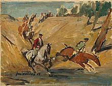 Jan Betley (1908 - 1980) Crossing the river, 1957