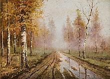 Wiktor Korecki (1890 - 1980) Way of birch-trees