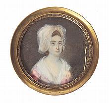 A miniature - portrait of a woman, 1st Half of 19th Century,