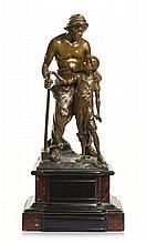 An bronze model of apprentice blacksmith, Paul Ludwig Kowalczewski (1865  - 1910)