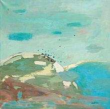 Maria Orzecka  (b. 1951) Landscape with birds, 1995