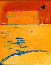 Maria Orzecka  (b. 1951) Landscape red, 1998