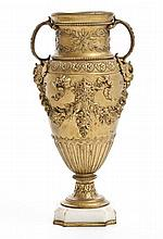 A french neo-rococo vase, 19th Century, Ferdinand Barbedienne (1810 - 1892)
