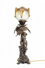 Art Nouveau style lamp, 19th/20th Century,  WMF, Germany