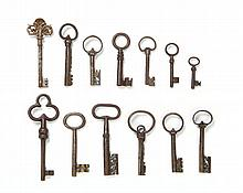 The collection of keys (13 pieces), 17th/18th Century,