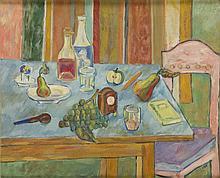 Marek Wlodarski / Henryk Streng (1903 - 1960) Still Life with a Clock , 1938