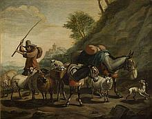 Nicolaes Berchem (1620 - 1683) Sheperd with his Flock, 1640