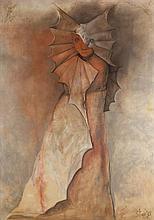 Stasys Eidrigevicius (b. 1949) Figure, about 1995