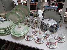 A mixed lot of tea and dinner ware including Royal Worcester, some a/f