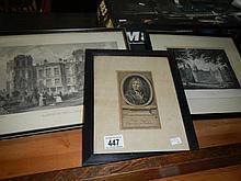 3 engravings of Hardwick Hall, Nocton and John Baptist