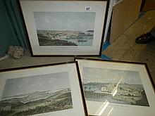 3 lithographs of Auckland New Zealand by P J Hogan