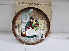 A Royal Doulton Old Balloon lady character plate