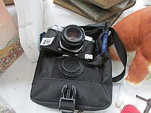 A Pentax K1000 camera