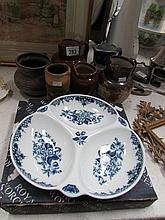 7 items of china and pottery including Royal Worcester Hors d'ouvre dish, D
