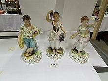 3 Royal Crown Derby figurines, Spring, Summer, Autumn