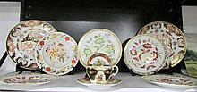 8 Royal Crown Derby plates, a Royal Doulton dish and a cup and saucer
