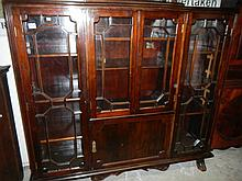 A mahogany astragal glazed book case