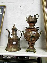 A Samovar and a Turkish coffee pot