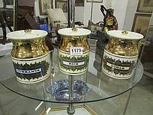 A set of 3 storage jars by Robert Stuart, Scotland