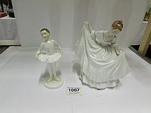 2 Royal Doulton figurines, Pamela HN2479 and Ballet Class HN3731