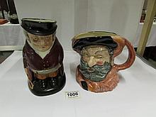 A Royal Doulton character jug 'Falstaff' and a Royal Doulton Toby jug 'The