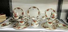 33 pieces of Royal Albert Old Country Roses (all first quality)