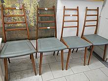 A set of 4 Beautility chairs