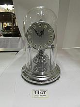 A chromed Kern anniversary clock