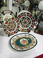 2 Royal Crown Derby Imari plates, a Mason's plate, Aynsley plate and a Germ