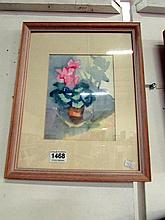 A framed and glazed still life watercolour by Gertrude Franklin White