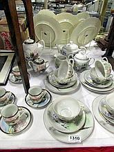 A 21 pieces Japanese tea set and a part Japanese tea set