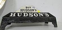 A Cast iron Hudson's soap stand