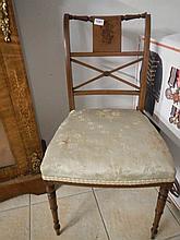 An inlaid chair