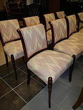 A set of 8 chairs including 2 carvers