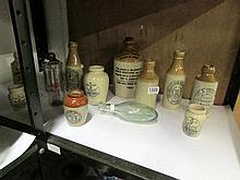A mixed lot of stoneware jars and bottles etc