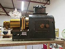 A Victorian magic lantern projector