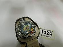 A vintage Dan Dare pocket watch in original case (re-offered due to non pay