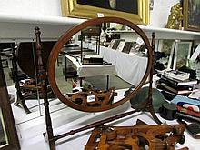 A 19th century toilet mirror
