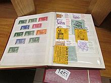 5 albums of stamps