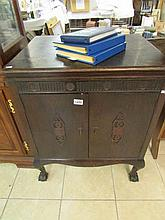 An Orchosol natural tone cabinet gramaphone, in working order
