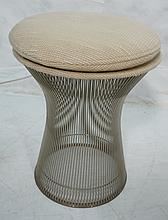 WARREN PLATNER Steel Stool with Cushion Top. KNOL