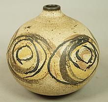 Small Pottery Vase Vessel marked CB. Circle desig