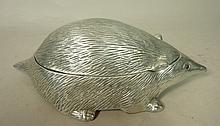 ARTHUR COURT Aluminum Porcupine Lidded Box. Hedge