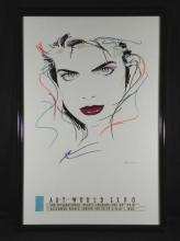 Dennis Mukai Art World Expo Original Poster Framed 1988
