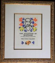 Sculpture Matisse Poster Mourlot Printing Framed 1959