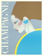Gerard Razzia Champagne Rare 1985 Poster