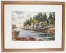 Sunlit Trio by Norman Merritt Watercolor Painting Frame