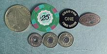 7 Tokens Included Elongated Penny + $25 James Bond Chip